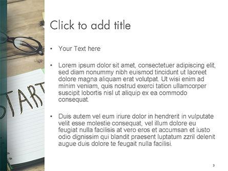 Start Text on Notepad PowerPoint Template, Slide 3, 14775, Business Concepts — PoweredTemplate.com