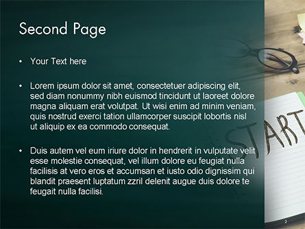 Start Text on Notepad PowerPoint Template Slide 2