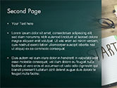 Start Text on Notepad PowerPoint Template#2