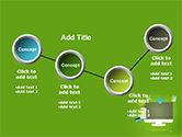 Online Commerce Flat Design Concept PowerPoint Template#6