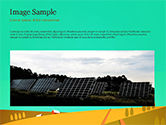 Solar Power Panels on a Field PowerPoint Template#10
