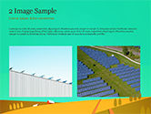 Solar Power Panels on a Field PowerPoint Template#11