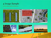 Solar Power Panels on a Field PowerPoint Template#13