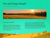 Solar Power Panels on a Field PowerPoint Template#14