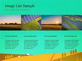 Solar Power Panels on a Field PowerPoint Template#16