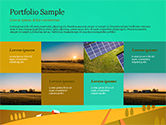 Solar Power Panels on a Field PowerPoint Template#17