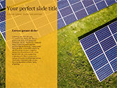 Solar Power Panels on a Field PowerPoint Template#9
