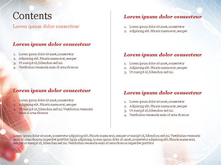 A Hand Touching Global Virtual Network PowerPoint Template, Slide 2, 14779, Technology and Science — PoweredTemplate.com