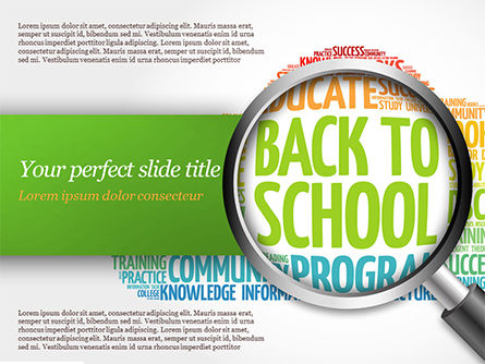 Back to School Word Cloud PowerPoint Template, 14780, Education & Training — PoweredTemplate.com