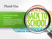 Back to School Word Cloud PowerPoint Template#83