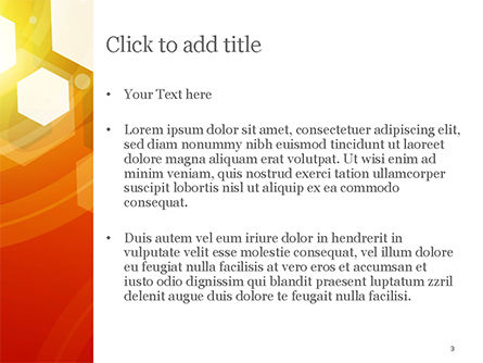 Abstract Orange Bokeh Background PowerPoint Template, Slide 3, 14781, Abstract/Textures — PoweredTemplate.com