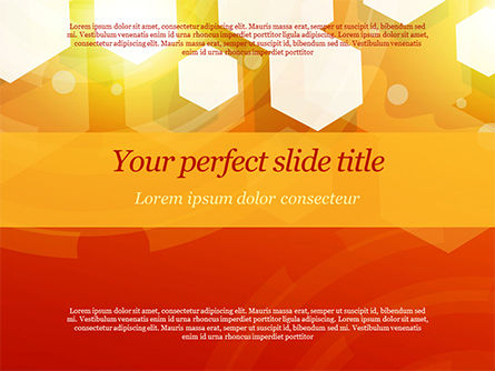 Abstract/Textures: Abstract Orange Bokeh Background PowerPoint Template #14781