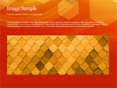Abstract Orange Bokeh Background PowerPoint Template#10