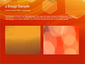 Abstract Orange Bokeh Background PowerPoint Template#11