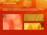 Abstract Orange Bokeh Background PowerPoint Template#12