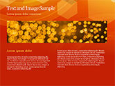Abstract Orange Bokeh Background PowerPoint Template#14