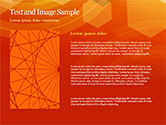 Abstract Orange Bokeh Background PowerPoint Template#15