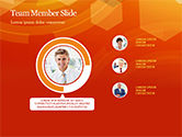Abstract Orange Bokeh Background PowerPoint Template#23