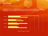 Abstract Orange Bokeh Background PowerPoint Template#24
