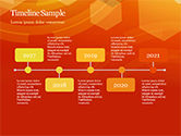 Abstract Orange Bokeh Background PowerPoint Template#31