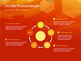 Abstract Orange Bokeh Background PowerPoint Template#35