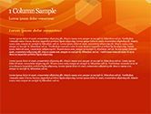 Abstract Orange Bokeh Background PowerPoint Template#4