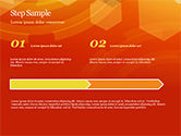 Abstract Orange Bokeh Background PowerPoint Template#40
