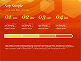 Abstract Orange Bokeh Background PowerPoint Template#42