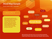 Abstract Orange Bokeh Background PowerPoint Template#44