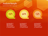 Abstract Orange Bokeh Background PowerPoint Template#47