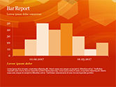Abstract Orange Bokeh Background PowerPoint Template#49