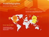 Abstract Orange Bokeh Background PowerPoint Template#64