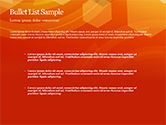 Abstract Orange Bokeh Background PowerPoint Template#7