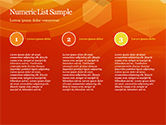 Abstract Orange Bokeh Background PowerPoint Template#73