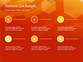 Abstract Orange Bokeh Background PowerPoint Template#74