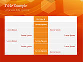 Abstract Orange Bokeh Background PowerPoint Template#75