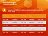 Abstract Orange Bokeh Background PowerPoint Template#77