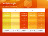 Abstract Orange Bokeh Background PowerPoint Template#78