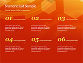 Abstract Orange Bokeh Background PowerPoint Template#8