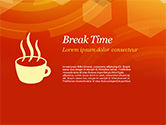 Abstract Orange Bokeh Background PowerPoint Template#80