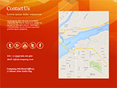 Abstract Orange Bokeh Background PowerPoint Template#82