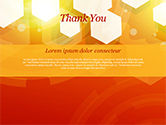 Abstract Orange Bokeh Background PowerPoint Template#83