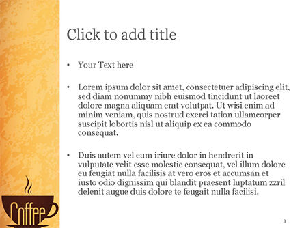 Cup of Coffee PowerPoint Template, Slide 3, 14783, Food & Beverage — PoweredTemplate.com
