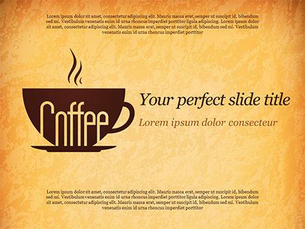Cup of Coffee PowerPoint Template, 14783, Food & Beverage — PoweredTemplate.com