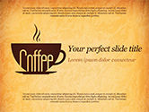 Food & Beverage: Cup of Coffee PowerPoint Template #14783