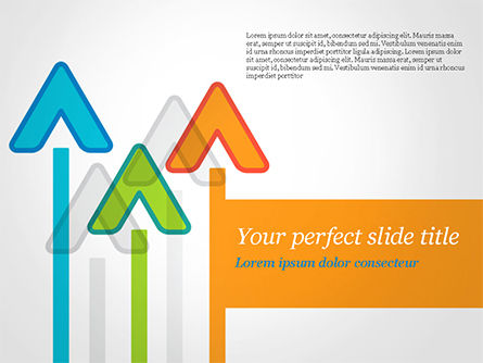 Business Concepts: Upward Arrows Theme PowerPoint Template #14786
