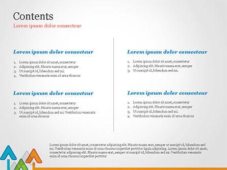 Upward Arrows Theme PowerPoint Template Slide 2