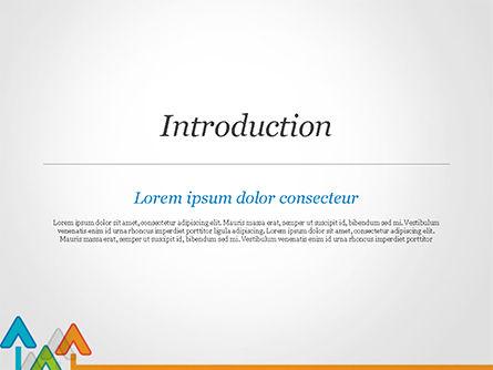 Upward Arrows Theme PowerPoint Template, Slide 3, 14786, Business Concepts — PoweredTemplate.com