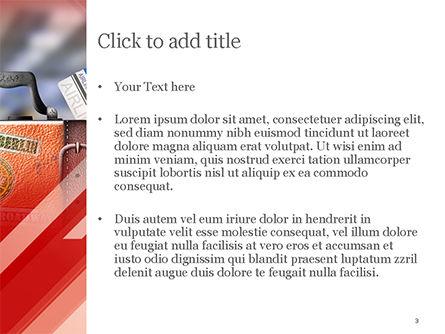 Travel Suitcase PowerPoint Template, Slide 3, 14787, Careers/Industry — PoweredTemplate.com