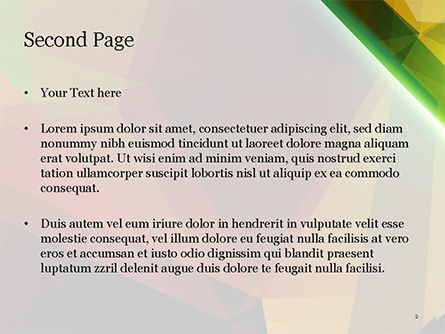 Abstract Background Design PowerPoint Template, Slide 2, 14790, Agriculture — PoweredTemplate.com